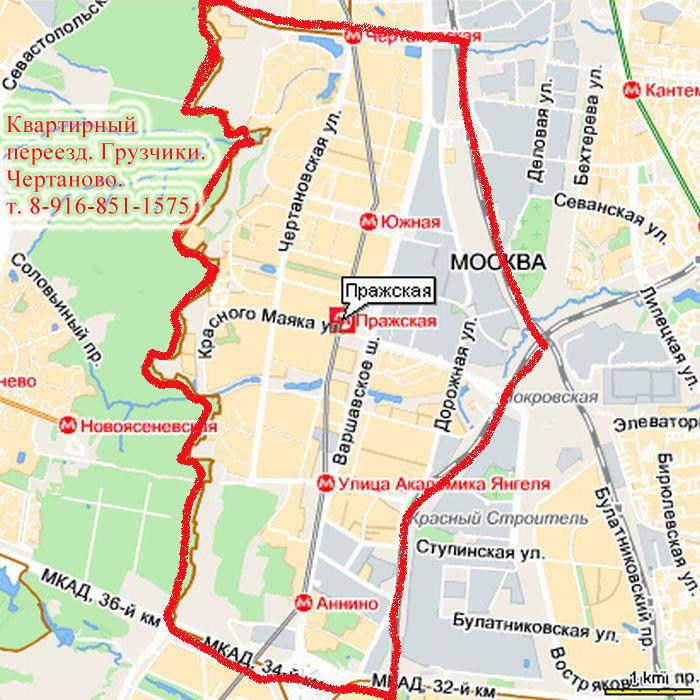 Карта Чертаново