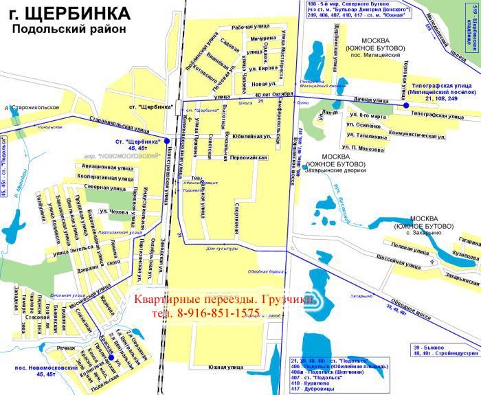 карта Щербинки