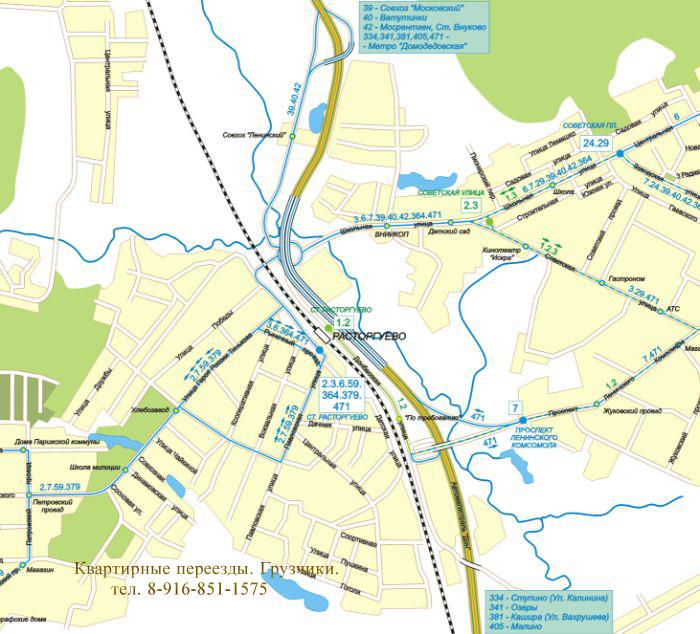 Карта Видное
