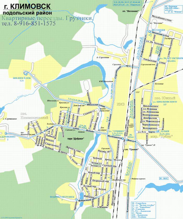 карта Климовска